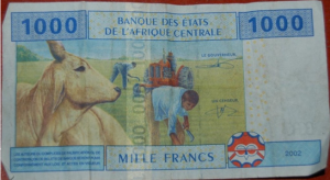 1000 Francs CFA = env. 1.80 CHF