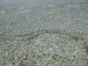 N'Djamena, vu d'avion